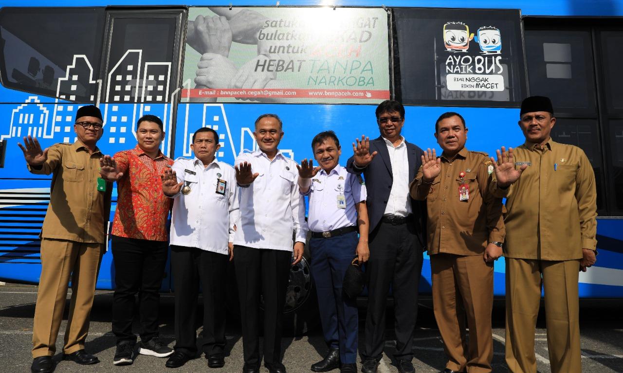 Pemerintah Aceh dukung Aksi Perlawanan terhadap Narkoba di Banda Aceh melalui Trans Koetaradja